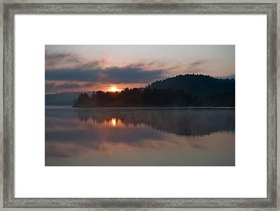 Sunset On The Lake Framed Print by Marek Poplawski