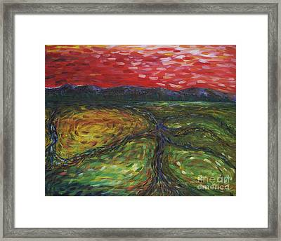 Sunset On The Narrows Framed Print