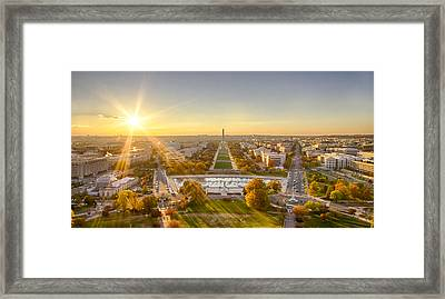 Sunset On The National Mall Framed Print