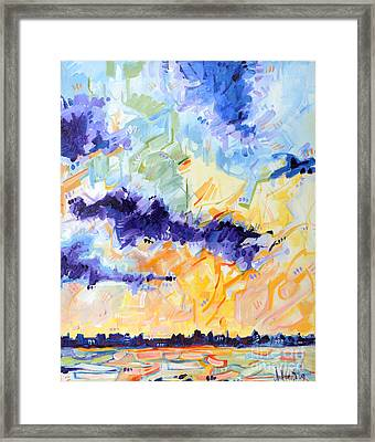 Sunset On The Niagara Framed Print by Michael Ciccotello