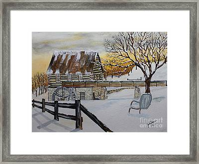 Sunset On The Old Mill Framed Print by Jack G  Brauer