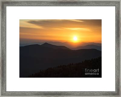 Sunset On The Parkway Framed Print