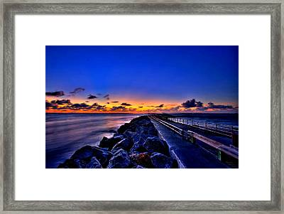 Sunrise On The Pier Framed Print