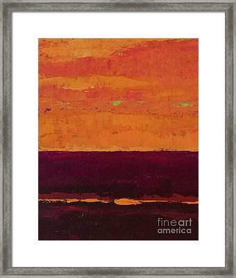 Sunset On The Pier Framed Print by Gail Kent