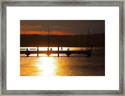 Sunset On The Pier Framed Print