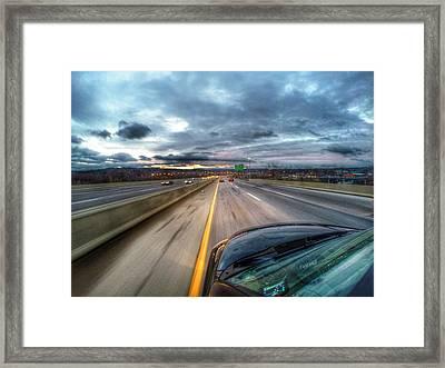 Sunset On The Pike Framed Print by Erik Kaplan
