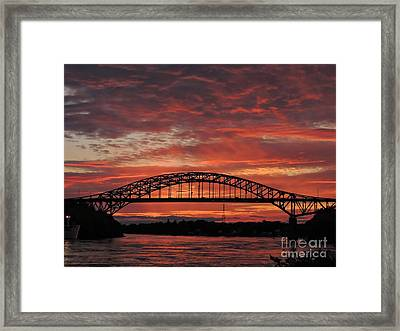 Sunset On The Piscataqua         Framed Print