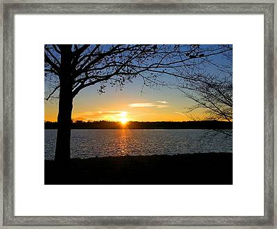 Sunset On The Potomac Framed Print