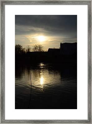 Sunset On The River Framed Print by Samantha Morris