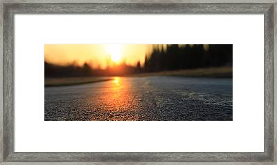 Sunset On The Road Framed Print by Dan Sproul