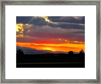 Sunset On The Road Framed Print