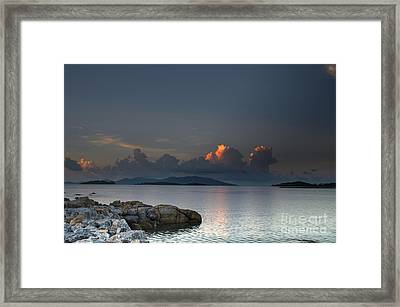 Sunset On The Sea Framed Print