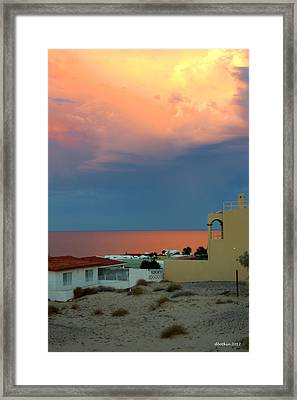 Sunset On The Sea Of Cortez Framed Print