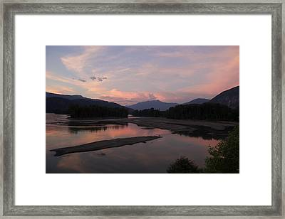 Framed Print featuring the photograph Sunset On The Skeena by Sylvia Hart