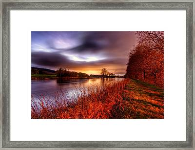 Sunset On The Suir Framed Print