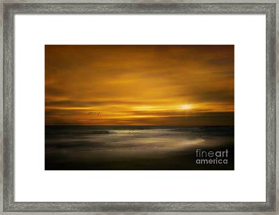 Sunset On The Surf Framed Print by Tom York Images