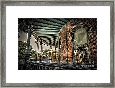 Sunset On The Veranda Framed Print by Marvin Spates