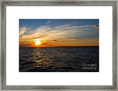 Framed Print featuring the photograph Sunset On The Water In Provincetown by Eleanor Abramson