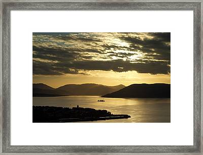 Sunset On The West Framed Print
