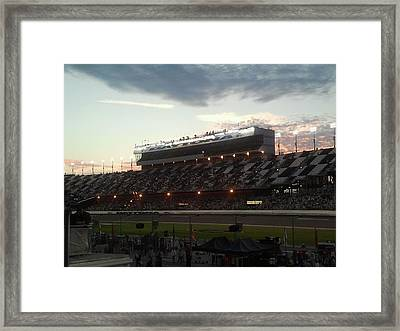 Sunset On Top Of Daytona Framed Print by Julie Wilcox