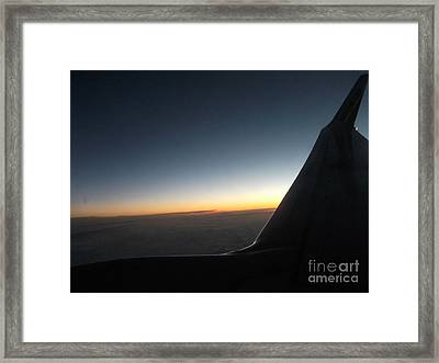 Sunset On Top Of The Clouds Framed Print