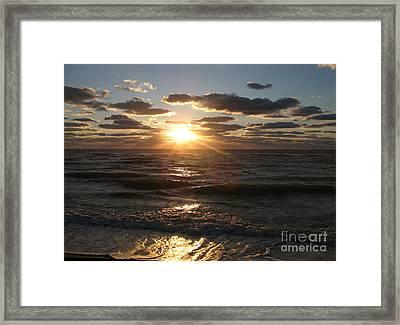 Sunset On Venice Beach  Framed Print