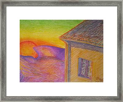 Sunset On Wavy Mountains Framed Print