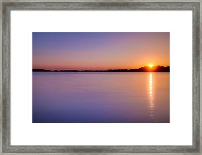 Sunset On White Bear Lake Framed Print