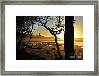 Sunset On Yaquina Head One Framed Print by Donald Sewell