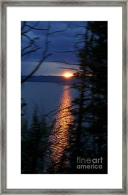 Sunset On Yellow Stone Lake 1 Framed Print