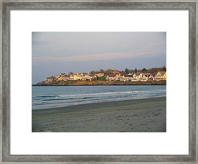 Sunset On York Beach Framed Print