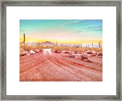 Sunset Organ Pipe Cactus National Monument Framed Print by Bob and Nadine Johnston
