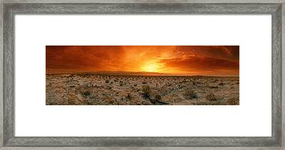 Sunset Over A Desert, Palm Springs Framed Print