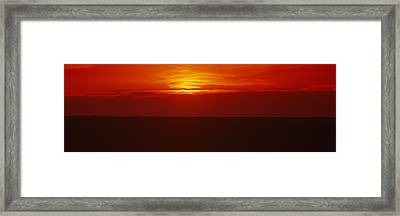 Sunset Over A Grain Field, Carson Framed Print by Panoramic Images