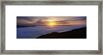 Sunset Over A Lake, Loch Lomond, Argyll Framed Print