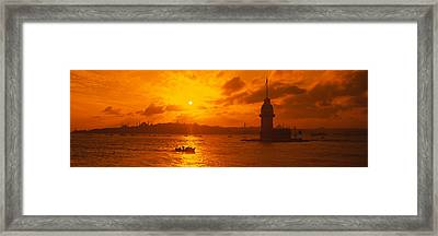 Sunset Over A River, Bosphorus Framed Print by Panoramic Images