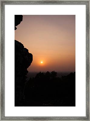 Sunset Over Angkor Wat Framed Print by Samantha Leonetti
