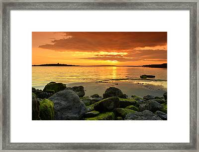 Sunset Over Aran Framed Print