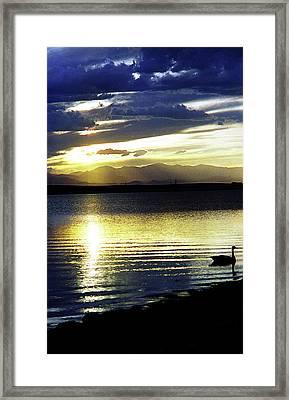 Sunset Over Aurora Framed Print