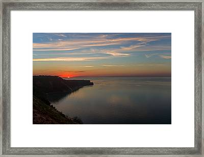Sunset Over Ausable Point. Framed Print