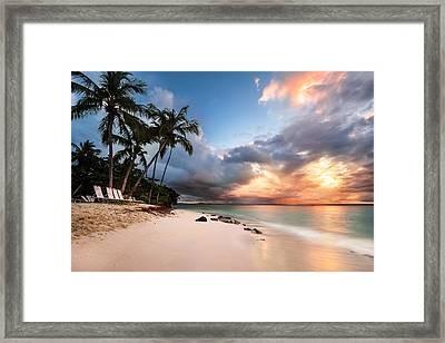 Sunset Over Bacardi Island Framed Print by Mihai Andritoiu