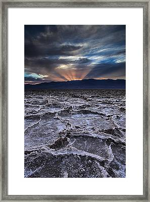 Sunset Over Badwater Framed Print
