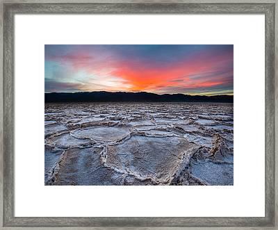 Sunset Over Badwater Framed Print