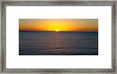 Sunset Over Baja Framed Print