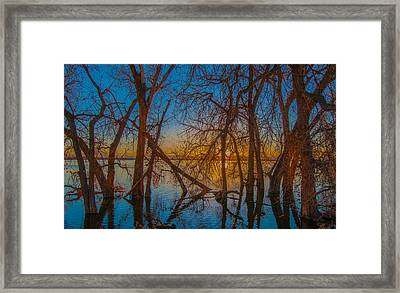 Sunset Over Barr Lake_2 Framed Print