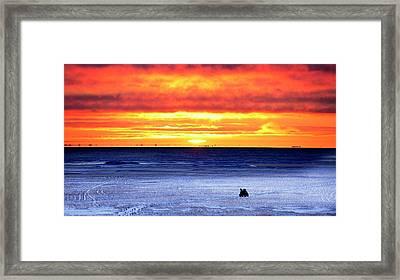 Sunset Over Beaufort Sea Alaska Framed Print by Chris Madeley