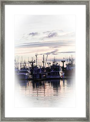 Sunset Over Bellingham Bay Framed Print