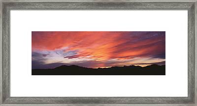 Sunset Over Black Hills National Forest Framed Print