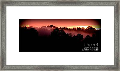 Sunset Over Blue Horse Rescue Framed Print