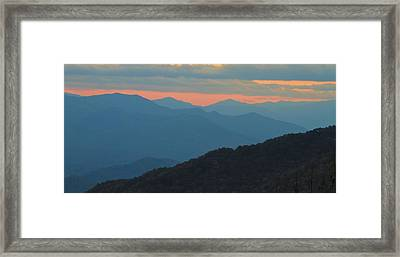 Sunset Over Blue Ridge Asheville North Carolina Framed Print by Dan Sproul